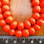 10mm Resin beads solid Bright Orange 1 x strand of approx 40