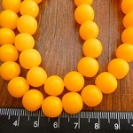 10mm Resin beads solid Yellow 1 x strand of approx 40