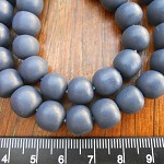 10mm Resin beads solid dark grey 1 x strand of approx 40