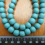 10mm Resin beads solid teal 1 x strand of approx 40