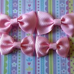 LAST SET Pretty In Pink Grosgrain Ribbon Bows 2 sizes
