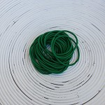 25 x Dark Green Hair Ties/Elastics