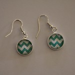 20 x 12mm dangly earrings  (10 pairs) - silver plated