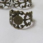 10 Bronze Filigree Rings
