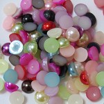 200 x 8mm flatback imitation pearl embellishments
