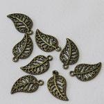 15 Bronze Leaf Charm / Pendants