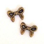 10x Bow Beads - Ant Bronze