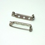 30pcs - Brooch Pin, Badge Back, 27mm - Silver