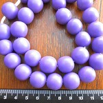 14mm Resin beads solid purple 1 x strand of 30