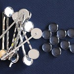 10 Silver Plate Cabochon Setting Bobby Pins/ Hair Clips & Glass Domes