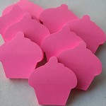 12 Mini Floro Cupcake Post It Notes ~ Party Favours ~