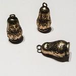 3 pcs Antique Bronze Russian Babushka Doll Pendants