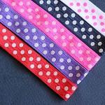 NEW 5 Soft Elastic Headbands- Polka Dot