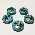 5 pcs Ceramic Butterfly Focal Beads