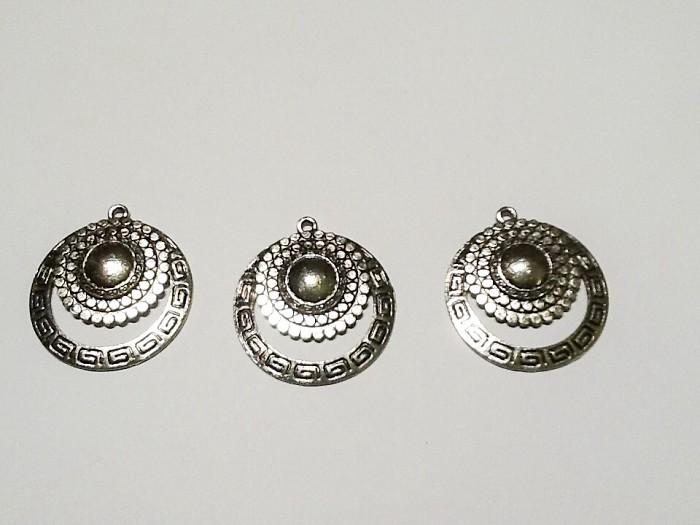 3pcs Tibetan Silver Pendants