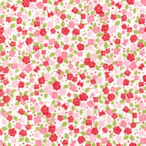 1.1 mtr - Tea Blossoms in Pink from Strawberry Tea Party - MM