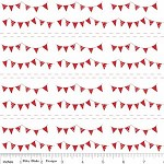 1/4 mtr - Buntings in Red from The Simple Life by Tasha Noel from Riley Blake