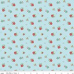 1/2 mtr - Floral in Aqua from The Simple Life by Tasha Noel from Riley Blake