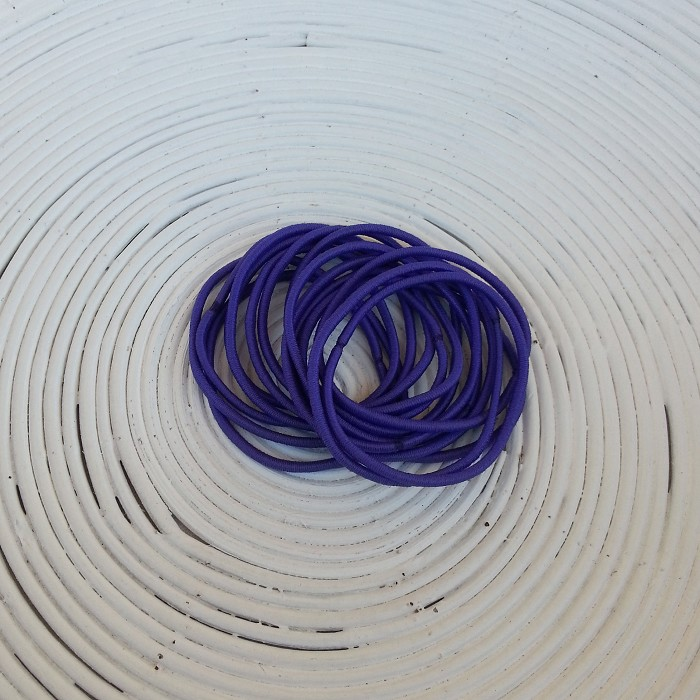 25 x Dark Purple Hair Ties/Elastics