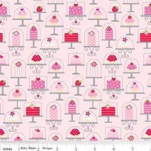 2.3mtrs - Main in Pink from Sweetcakes by Doodlebug Designs for Riley Blake