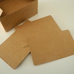 100 Kraft Business Cards blank retro