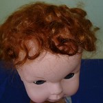 Dark Tan Mohair for Doll & Toy Hair