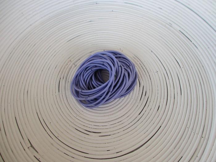 25 x Light Purple Hair Ties/Elastics