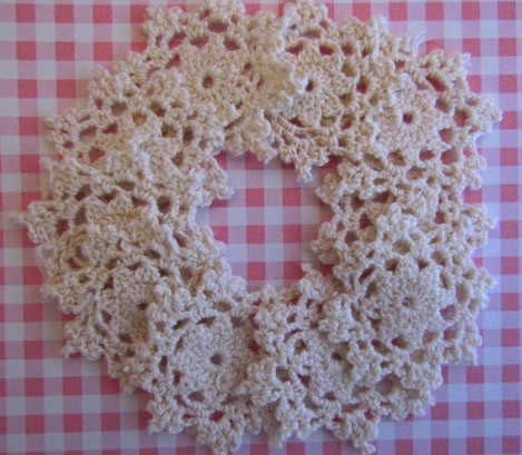 10 Mid Size Ivory Doilies