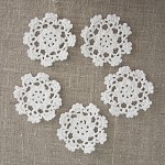 Pack of 5, white motives, ornaments, scrapbooking, card making