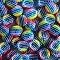 20 Rainbow Buttons