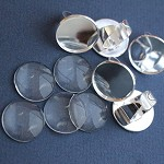 LAST SET 5 Silver Plate Rings & 25mm Glass Domes Kit.