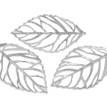 10 Silver Plate Leaf  Pendants