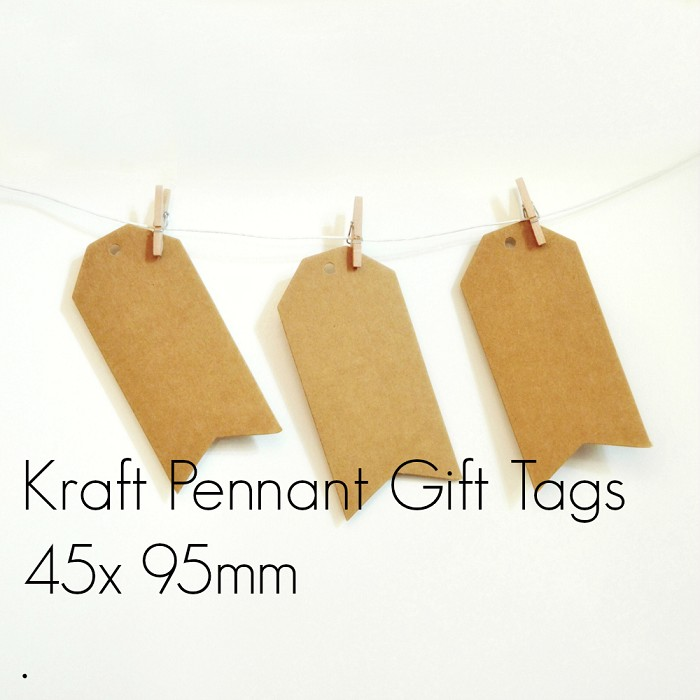 Kraft Luggage Tags {50} Large Pennant Style Blank | DIY Supplies Labels