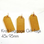 Kraft Luggage Tags {50} Large Vintage Style Blank | DIY Supplies Labels