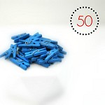 Blue Mini Pegs {50} Wood   Photo Prop   DIY Supplies   Embellishments