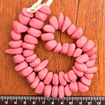 Resin Ice Chip beads Solid Pink