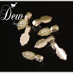 25 Small Silver Color Glue On Leaf Bails, Great For Scrabble Tile Pendant and..