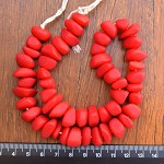 Resin Ice Chip beads Solid Red