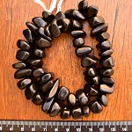 Resin Ice Chip beads Solid black
