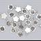 25 Silver Tone Flower Glue on Bails