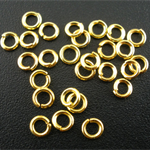 2000 Gold Plated Jump Rings 3.5mm x 0.7mm