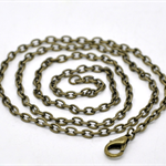 12 x 20 inch Bronze Tone Chain necklace