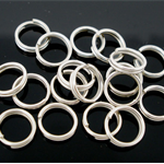 27g approx 250 Double Loop Silver jump rings 8mm