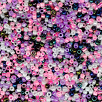 10000 Multicolour  Pink Glass Seed Beads