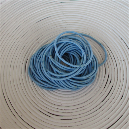 25 x Light Blue Hair Ties/Elastics