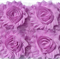 10 x Lilac shabby chiffon rose flowers