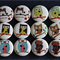 12 Owl Wooden Buttons- 6 Designs