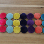 Velvet Covered Buttons 28mm - shank back