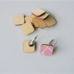 10 x wooden square tiles shapes