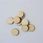 10 x wooden flower tiles shapes